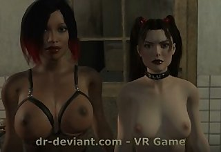 Huge dildo amusement with regard to Dr.Deviant BDSM bitches - VR Game