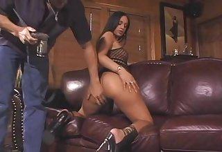 Brunette Stripper Works With A Different Kind Of Bar-room