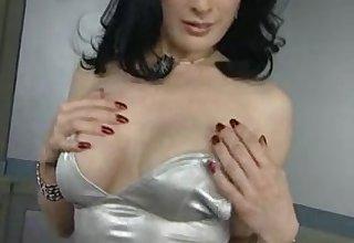 Dita von  masturbating wet pussy and get orgasm