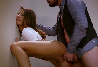 Madison Ivy and Dane Cross are pummeling in the dressing apartment, while no 1 is witnessing