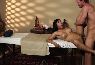 Busty asian babe fucked Neptune's by masseur
