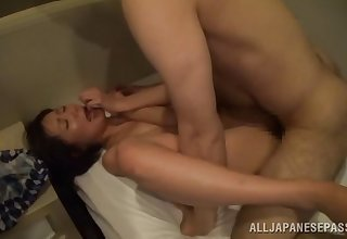 Sweet Japanese eats friend's hard load of shit at the and after wild sex