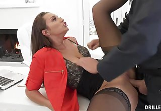 Bella Rolland is enervating softcore underwear and tights while ditch a rock stiff meat stick