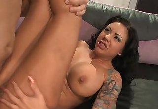 Boner riding pornstar Mason Moore has a squirting orgasm