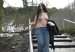 celeste naked in public