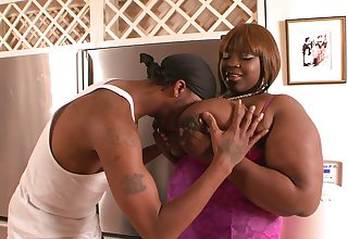 A big of blowjob and the BBW ebony is all traditional to try anal