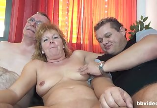 Nasty orchestrate sex with German mature amateur and a younger couple