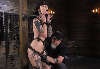 Locked in stocks real BDSM call-girl Charlotte Sartre deserves hard addiction
