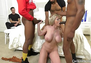 Mature feels black males fucking their way go out of business holes in full home cuckold