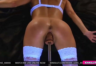 MAX SPEED!!!! WIFE SQUIRTING ALL OVER FUCKING MACHINE