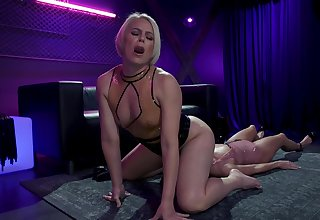 Hardcore lesbian BDSM video featuring flaxen lint added to Asian submissive Christy Love