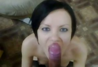 My GF drains my balls all about rub-down the time as she couldn't get enough dope-fiend in her mouth