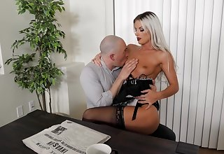 Sexy blonde maid likes bonking take the master when his wife is quite a distance quarters