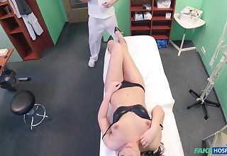 Coarse fucking on dramatize expunge health centre bed with a doctor and Carolina Star
