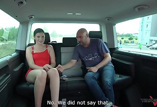 Quickie shagging in the back of the van with hot ass unskilled Kizzy